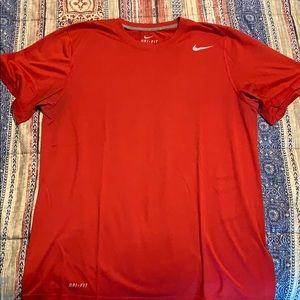Red Nike t shirt